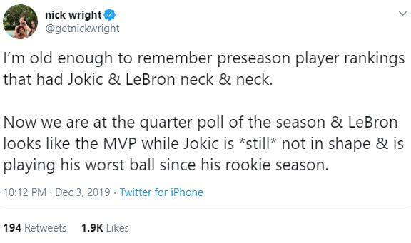 This Is Why Nikola Jokics Dreadful Start Shouldnt Make the Nuggets Panic